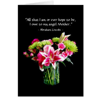 Happy Mother's Day, Stargazer Lily Bouquet Card