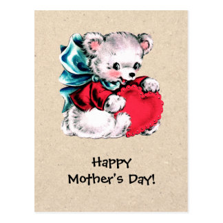 Happy Mother's Day. Sweet Teddy Bear Postcards