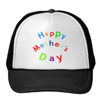 Happy Mothers Day Text Trucker Hat