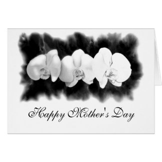 Happy Mother's Day - three Orchids Greeting Card