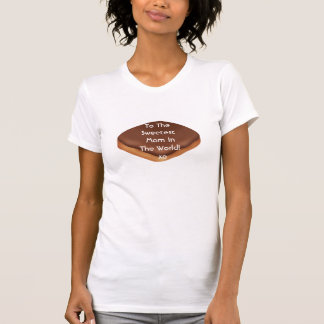 Happy Mothers Day to My Sweet MOM Chocolate Donut  T-shirt