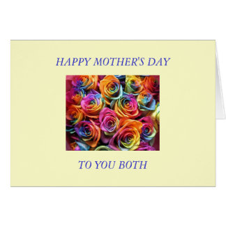 Happy Mothers Day to My Two Moms Card
