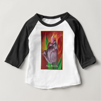 Happy Mother's day - Two Tulips Baby T-Shirt