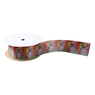 Happy Mother's day - Two Tulips Satin Ribbon
