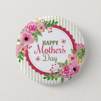 Happy mother's day vintage flower bouquet frame 2 inch round button