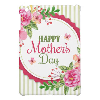 Happy mother's day vintage flower bouquet frame iPad mini covers