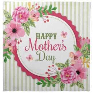 Happy mother's day vintage flower bouquet frame napkin