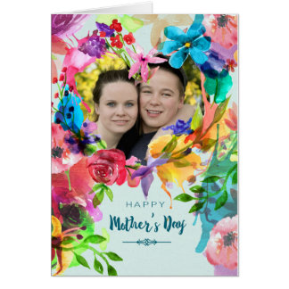 Happy Mother's Day Watercolor Flowers Customizable Card