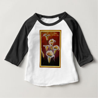 Happy Mother's Day - White Calla Lilies Baby T-Shirt