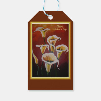 Happy Mother's Day - White Calla Lilies Pack Of Gift Tags