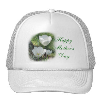 Happy Mother's Day White Tulips Trucker Hat