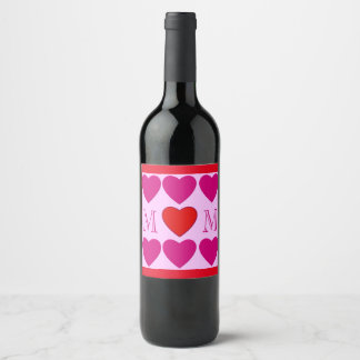 Happy Mother's Day Wine Label