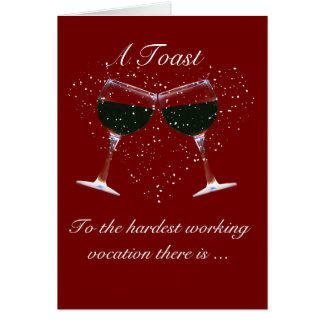 Happy Mother's Day Wine Toast Card