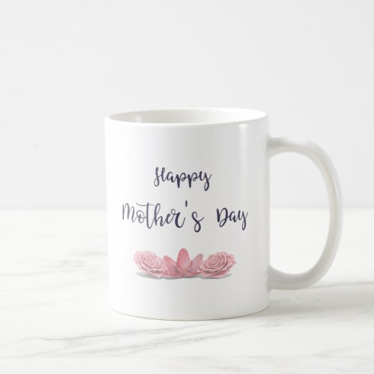 Happy-Mothers-Day-with-pink-Flowers Coffee Mug