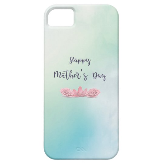 Happy-Mothers-Day-with-pink-Flowers iPhone 5 Cover