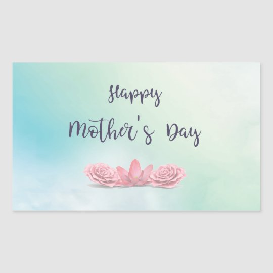 Happy-Mothers-Day-with-pink-Flowers Sticker