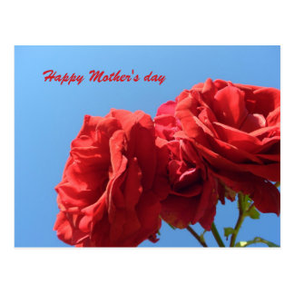 Happy Mother's Day with pink roses Postcard