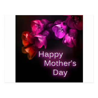 Happy Mother's Day with Red flowers Postcard