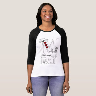 Happy Mothers Day Women's Bella+Canvas Raglan T-Shirt
