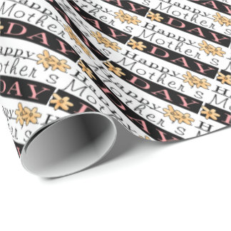 Happy Mother's Day word art wrapping paper