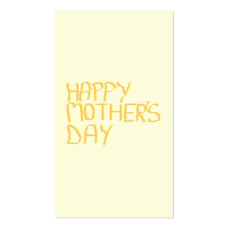 Happy Mothers Day Yellow Business Card