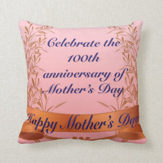 Happy Mother's Pink Polyester Throw Pillow