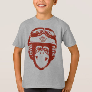 Happy Moto Monkey (red) T-Shirt