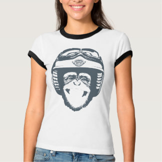 Happy Moto Monkey (slate) T-Shirt