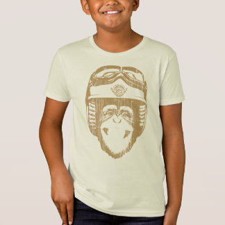 Happy Moto Monkey (vintage gold) T-Shirt