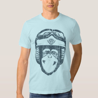 Happy Moto Monkey (vintage slate) Shirts