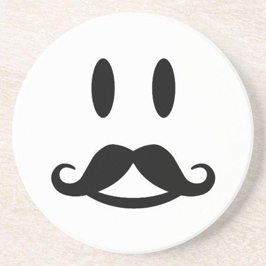 Happy Moustache Smiley custom coaster