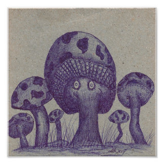 Happy Mushroom Prints