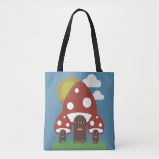 Happy Mushrooms Tote Bag