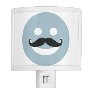 Happy Mustache Face Night Light