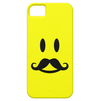 Happy Mustache Smiley iPhone 5 case-mate