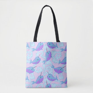 Happy Narwhal Pattern Bag