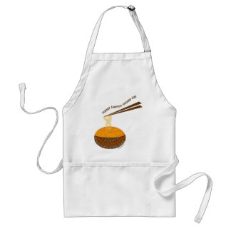 happy nation noodle day standard apron