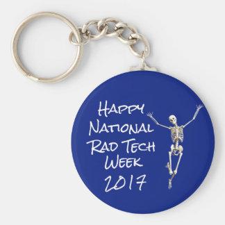 """Happy National Rad Tech Week"" with Skeleton Keychain"