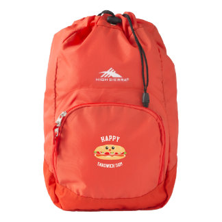 Happy National Sandwich Day Cute And Kawaii Backpack