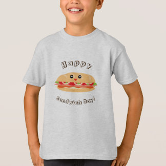 Happy National Sandwich Day Cute And Kawaii T-Shirt