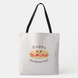 Happy National Sandwich Day Cute And Kawaii Tote Bag