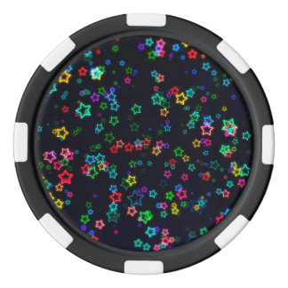 Happy Neon Star Poker Chips