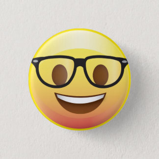 Happy Nerd Glasses Emoji Face Pin