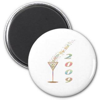 Happy New Year 2009 2 Inch Round Magnet