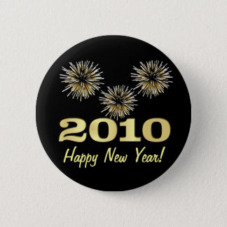 Happy New Year 2010 Party Favor - Round Button