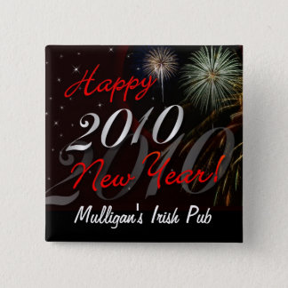Happy New Year 2010 Pin - Patron Party Favor