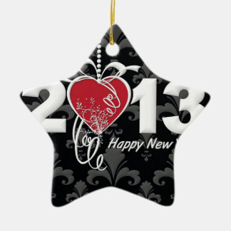 Happy New Year 2013 Ceramic Ornament