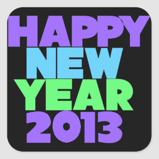 Happy New Year 2013 Square Sticker