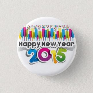 happy new year 2015 1 inch round button