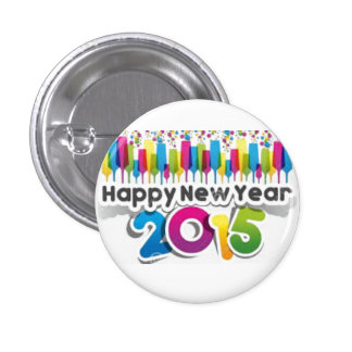 happy new year 2015 1 inch round button